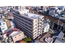 バンデホテル大阪ドローンで撮影した外観1