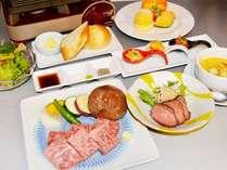 【ステーキコース(一例)】飛騨牛を使用したステーキコースをご用意いたします。