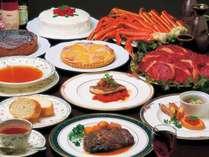 欧風コース料理一例(好評の食べ飲み放題プランは要予約)