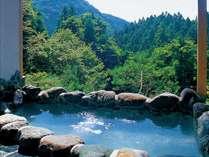 温泉を満喫♪山々を望む絶景の貸切露天風呂!