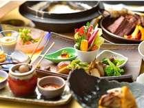 【スタンダード(夕食)】上州和牛や地元野菜を中心に使用した和風創作料理。季節を目と舌でどうぞ!