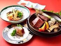 △美食コース(夕食グレードアップ)お肉は2人前