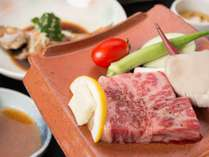 *【夕食一例:和牛瓦焼き】お好きな焼き加減でどうぞ
