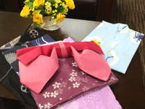 3階に浴衣コーナーを設けました。女性用色浴衣・子供用浴衣を宿泊者の方は無料でご利用いただけます♪