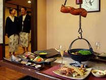 【お食事処 北番屋】個室風の囲炉裏端でお食事をお楽しみいただけます