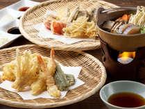 【花吹雪】夕食/朝陽亭ならではの「山のバラエティ天ぷら」(画像はイメージ)