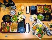 「お部屋食でワンちゃんのんび~りプラン」(2名様限定)グルメ和会席:地魚刺身盛を無料サービス中!