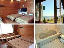 シニアに人気の、広めの客室と浴室:湯った~りプラン 「バリアフリー対応」湖畔の絶景ドッグラン無料!