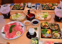 (しゃぶしゃぶプラン)プラス 煮魚とあさり汁、デザート、ご飯、コーヒーor紅茶が付きます。