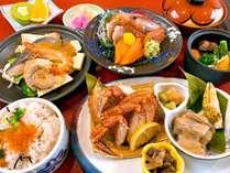 【夕食一例】森夢御膳:海の幸・山の幸の両方を味わっていただける贅沢な御膳です。