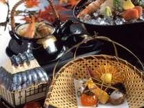 秋の会席料理一例