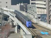 お部屋より特急列車が行きかう姿がご覧いただけます。