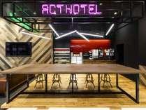 アクトホテル自慢のバー・ラウンジです。Wi-Fi完備のためビジネスシーンにも対応。