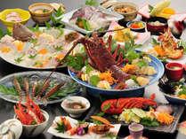 【伊勢海老づくしプラン】伊勢海老お造り・グラタン・サラダ・豪華お料理をどうぞ堪能ください。