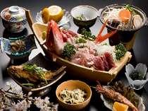 海の幸、山の幸満載の、通常料理