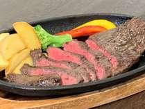 ルームサービス夕食 道産牛ステーキディナー