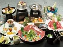 料理長おすすめ会席♪富士桜プラン♪牛肉しゃぶしゃぶや鯛と鱚のカルパッチョなどちょっと贅沢な豪華会席