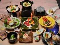 【お料理を楽しみたい方へおすすめ】たらばがに・牛肉の石焼き・伊勢海老を使った豪華会席「富士桜プラン」
