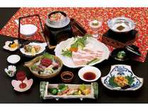 スタッフ一押!地元食材の富士桜ポークをさっぱりとしたしゃぶしゃぶでどうぞ!海の幸・山の幸満載のプラン