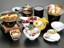のどごし爽やかな茶そば焼きや枝豆や焼き茄子を冷やし鉢で頂くプラン【信玄プラン 9月】
