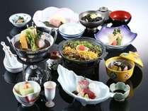 鰆や筍の若竹鍋、甘鯛、芽キャベツなど春の食材を使った会席料理 【信玄プラン 3月~5月】