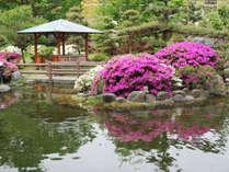 *【中庭の東屋】東屋に腰を下ろして四季折々の庭園をお楽しみください
