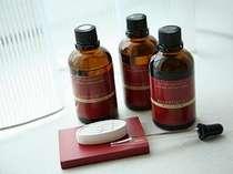 アロマメニューは、ラベンダー・マンダリン・サンダルウッドの3種類の香りからお選びいただけます。