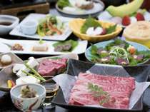 【美山会席】お肉の味と量に対するご期待に応えた、人気の料理です。