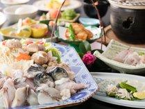 大阪 冬の味覚を京風で仕立てた会席 不死王閣 ふぐづくし会席
