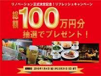 総額100万円還元キャンペーン!