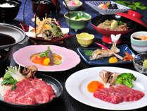 ダブルで贅沢に!信州牛のすき焼&ステーキをご賞味ください。