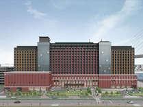 ホテル外観(イメージ)  エリア最大760室のオフィシャルホテルが11月オープン♪