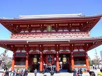 【宝蔵門】浅草寺のご秘物を納める収蔵庫    大谷米太郎氏のご寄進により再建されました