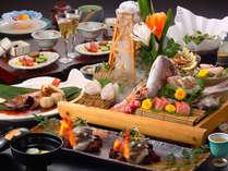 ◆【料理長特選膳】金目鯛煮付けや噴出盛りの御造り、さざえなど。(お得なプランのニュー)