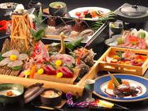 【最上級】金目鯛・伊勢海老・鮑+フォアグラ・トリフ・キャビア&和牛ステーキ付きの最高に贅沢な究極膳