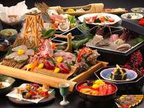 【極旨膳】メインは、ウニ&イクラ&蟹の海鮮丼!伊勢海老・鮑の踊焼き・お造りもついた海鮮づくしプラン