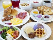 【朝食ブッフェ】和洋琉球料理、約30種類の中からお好きなだけお召し上がりください。