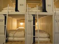カプセルタイプのベッドです。
