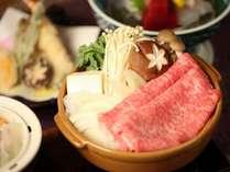 夕食:赤城牛のすき焼き