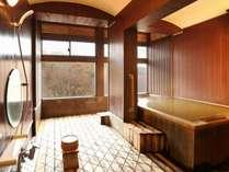 貸切風呂は4つあり、空いていればいつでも入れる。写真は人気の「精」(こころ)