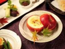 夕食:林檎のグラタン(一例)