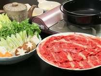 【夕食】桜肉のすき焼き