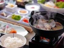 【ご朝食】カラダにやさしい健康和朝食♪あさりの旨みで溢れたお味噌汁もおすすめ!