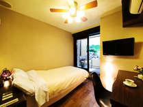 ■シングルベッドルーム■ひとり旅でも安心♪快適にお過ごしいただけるよう設えにも工夫を施しています