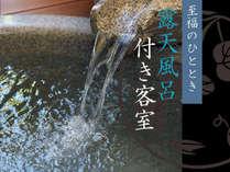 【露天風呂を満喫】 美肌の湯を一人占め癒し旅