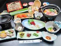 コリコリっと美味しい☆人気のあわび陶板焼と選べる鍋料理コース
