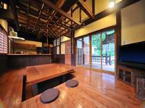 明治時代に建築された酒蔵を完全移築【~4名様:しゃくなげ23号館-スウィートIII(KURA)】