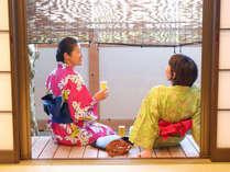 本館1階【くれ竹】広縁に座ってのんびりと…♪