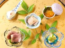 【ご夕食一例】季節の前菜五種盛り盆