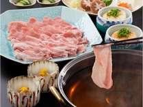 【夕朝食付】和豚もちぶたしゃぶしゃぶ黄金だしコース